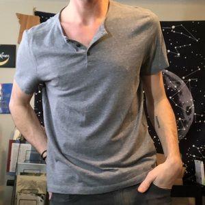 Gray John Varvatos Henley Shirt